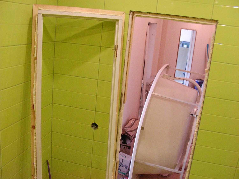 Как сделать двери в ванной 333
